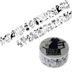 猫テープ(荷造り梱包クラフト粘着テープトラネコボンボン)幅50mm