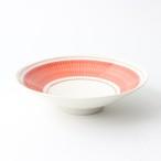 【SL-0062】磁器 15cm 鉢 赤×白