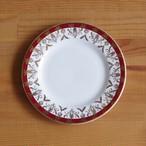 イギリス製 ヴィンテージ ロイヤルグラフトン ワインレッド ゴールド デザートプレート ケーキ皿 15cm #200317-1~4 レトロ モダン Royal Grafton 陶器 食器 アンティーク