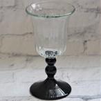 琉球ガラス【glass32】ワイングラス・黒脚