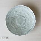 [マルヤマウエア] 7寸陽刻皿(青瓷)