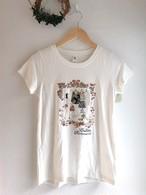 女の子のオシャレクローゼット柄Tシャツ ホワイト