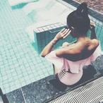 【送料無料◇即納】Bikini♡オフショルダーミドルウエストビキニ ピンク