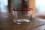 【カンナカガラス工房◆村松学】◆◆◆デザートカップ◆◆口巻*赤◆◆◆】