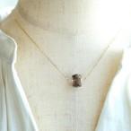 ~MITSU~  宝石質スモーキークォーツ K14GF 一粒ネックレス 40cm 45cm