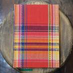 無地 インド製 刺繍マドラスチェック A5Colorisノート ユーティリティサイズ