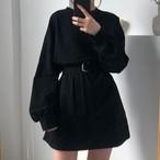 【人気爆発中】【dress】無地一目惚れプルオーバーカジュアルワンピース22828584