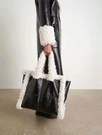 ビンテージもこもこバッグ トートバッグ 韓国ファッション