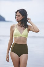 Triangle bikini / Top&Bottom (L.yellow×Khaki)
