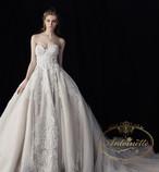 ladies wedding dress white long A-line happy ceremony 海外 ウエディングドレス ホワイト Aライン 結婚式 ガーデンパーティー 袖なし オフショル オフショルダー きれいめ 綺麗
