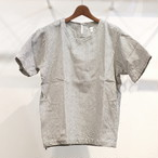 KUON(クオン) 刺し子織り半袖カットソー(シャツ) ホワイト