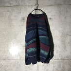 [used] modern designed purple knit