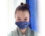 レディースマスク コットンリネン×ガーゼ/子供〜女性サイズ デニム風