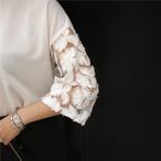 Cotton T Shirt Lace Hollow out 732