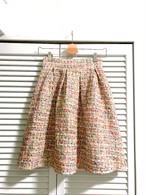 ミックスカラーツイードのフレアスカート