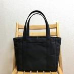 【受注制作】「ポケットトート」中サイズ「ブラック(黒)」帆布トートバッグ 倉敷帆布8号