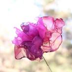 カラフルオーガンジーのアートフラワー【造花】|赤ピンク