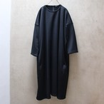 R&D.M.Co-/OLDMAN'S TAILOR  Double Knit Over Size Dress/ダブルニットオーバーサイズドレス #4394