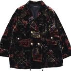 Unisex vintage velour quilting design coat