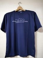 【穂高連峰 MOUNTAINS OF  HOTAKA_ネイビー】Tシャツ
