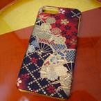 西陣織スマホケース/みやび扇【対応機種:iphone7 Plus】