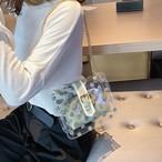 【bag】ファッション合わせやすいドット柄透明斜め掛けバッグ