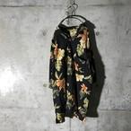 [used] mode black aloha shirt