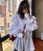 予約注文商品 ダブルボリュームシャツ シャツ 韓国ファッション
