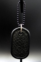 Item No.0333: Dog tag key holder/Diamond python