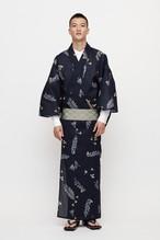ゆかた / アロハ柄 / Navy(With tailoring)