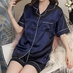 【パジャマ】今季も大流行ファッションハイウエストシングルブレスト折り襟ルームウェアパジャマ25346300