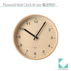 KATOMOKU plywood wall clock km-34MRC 電波時計