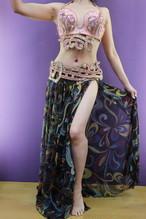エジプト製 ベリーダンス衣装 ターキッシュスタイル ピンク