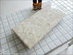 大理石トレイFL-IV 天然大理石 マーブルトレイ 飾り台 小物置き 長方形 フラット 自然石 トレー 洗面用品置き W25 x D12cm