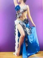エジプト製 ベリーダンス衣装 ブルー