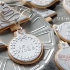 《再販》*送料無料*クレイのアイシングクッキー風 クリスマスオーナメント