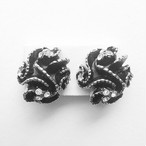 black rhinestone design earring[e-365]