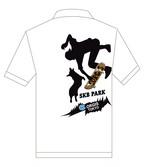 No.2021-Autumn-PORO-001 5.3オンス ドライカノコ ユーティリティー ポロシャツ:  2021秋の新デザイン コーギーのスケボーパーク / ポロシャツ5.3oz