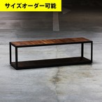 IRON FRAME LOW SHELF 113CM[BROWN COLOR]サイズオーダー可