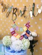 レインボーケーキトッパー 誕生日  1歳 赤ちゃん ベビー 飾り 装飾 飾り付け プレゼント バースデー フォトジェニック
