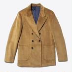Oversized Double-Breasted Corduroy Sport Coat(Fawn)