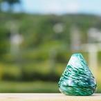 沖縄の思い出ペーパーウェイト(海とサンゴ) 【琉球ガラス工房 雫】