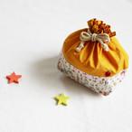 りんご刺繍のお弁当袋(リバティ)