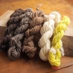 【絲ツム】原毛手紡ぎの刺繍糸