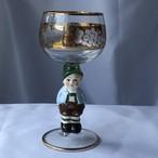 【特別価格】ドイツ Goebel ゲーベル Bockling ボックリング ワイングラス 少年 No.2