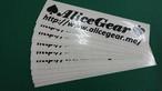 AliceGear Sticker BK Large