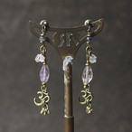 constellationピアス -amethyst-