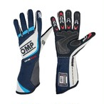 IB/759/BW ONE EVO GLOVES NAVY BLUE/WHITE/CYAN