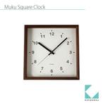 KATOMOKU muku square clock km-37B