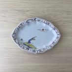 【有田焼】錦唐草鳥紋 木甲型焼物皿